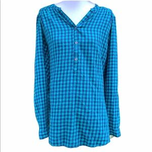 Columbia Women's Popover Top Size Large Blue
